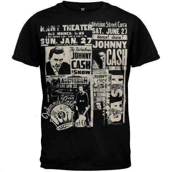 Johnny Cash Newspaper Soft T Shirt