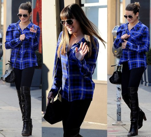 lea-michele-blue-top