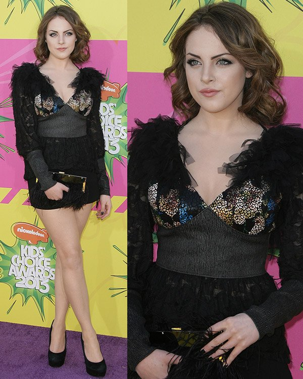 Elizabeth Gillies at Nickelodeon's 26th Annual Kids' Choice Awards at USC Galen Center on March 23, 2013