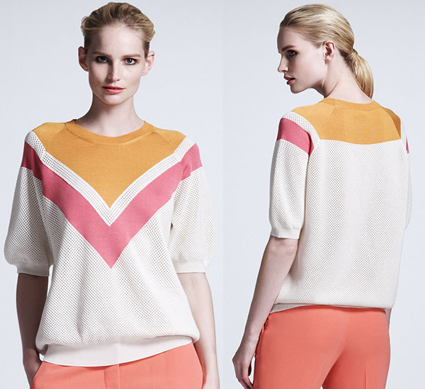 Stella McCartney Chevron Mesh Sweater