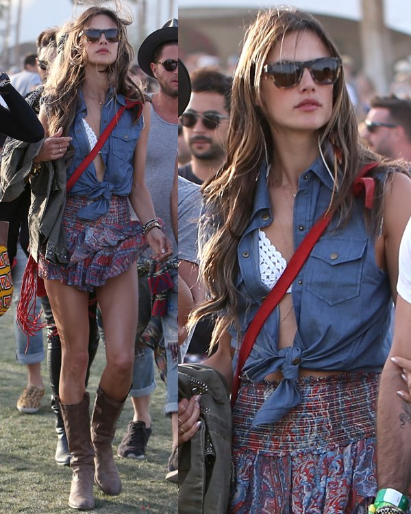Alessandra Ambrosio at the 2013 Coachella Valley Music Festival Week 1 Day 3 on April 14, 2013