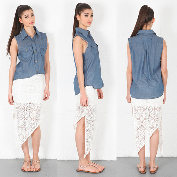 Siwy Denim Lana Raw Edge Sleeveless Top