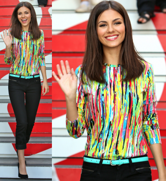 Victoria-Justice- seen-at-The- Grove-where-she- is-interviewed-by- Maria-Menounos- for-television- show-Extra-Los- Angeles-CA-April-3-Wright