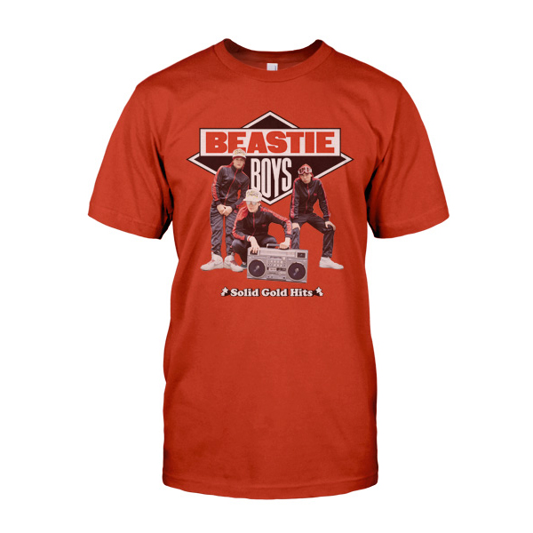 Beastie Boys Tee Red Solid Gold