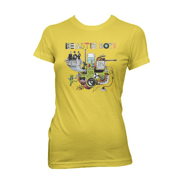 Beastie Boys Tee Womens Yellow Machine