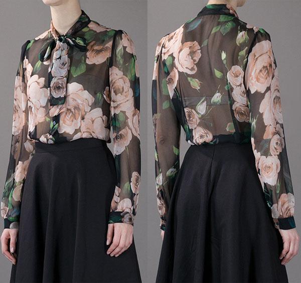 Dolce & Gabbana Floral Silk Blouse