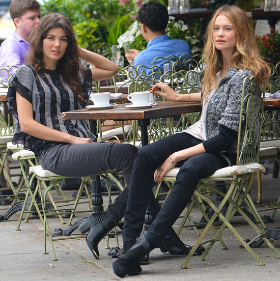 Behati Prinsloo and Sheila Marquez do a photo shoot