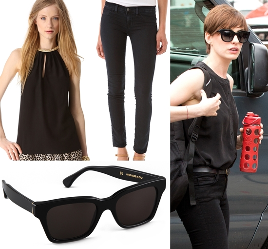 Anne Hathaway_Get The Look_black_halter_blouse