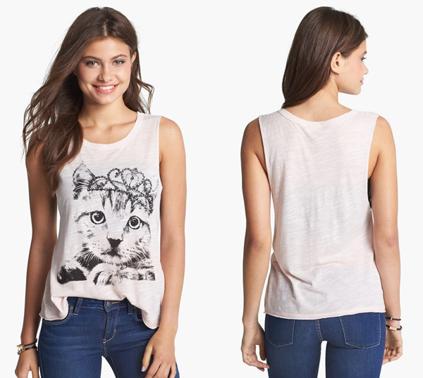 Mary Jane Kitty Muscle Tank